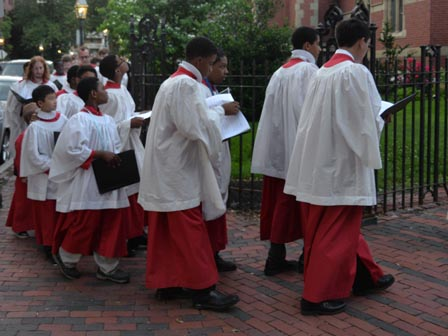 part of the Choir of Men and Boys from All Saints Ashmont