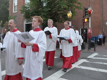 choristers in procession