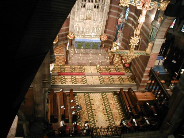 """aerial"" view of the chancel"