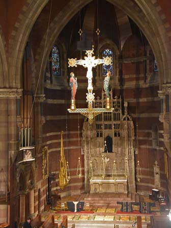 high altar before the service