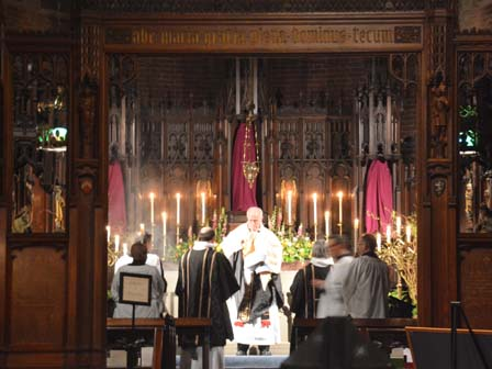 processing the Sacrament from the Altar of Repose