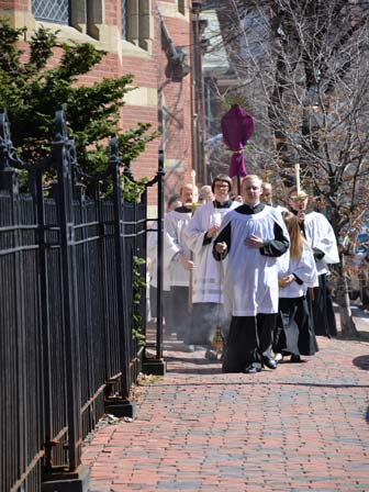 procession at Solemn Mass