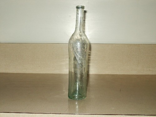 very old wine bottle