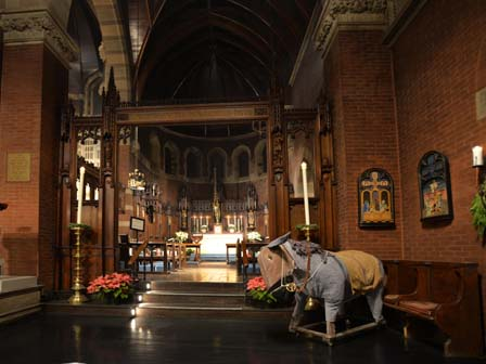 the Lady Chapel and the Christmas Pageant donkey