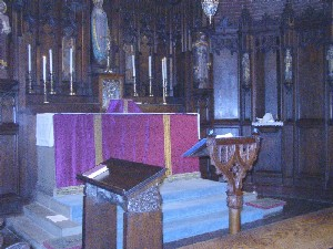 altar set for Mass