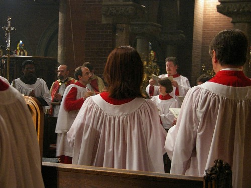 Mark Dwyer conducting the Choir at Michaelmas, 28 September 2007